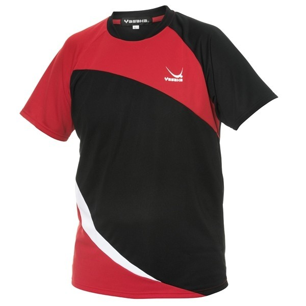 Yasaka  T-Shirt OBLICK   Black / Red - Men's