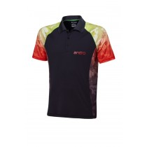 Andro - Polo SPENCER Black - Red - Men's