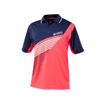 Andro  Polo- HARRIS Neon Red - Dark Blue - Men's