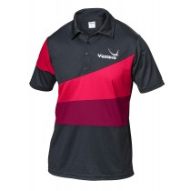Yasaka - Polo CASTOR - Black / Dark Red / Red - Men's